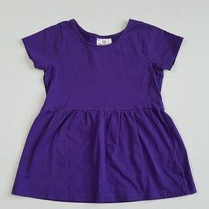 Hanna Andersson purple peplum shirt 120cm